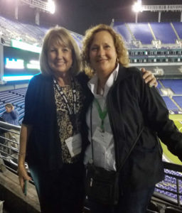 Sandy Holbrook and Joy Schnetzka at the Baltimore M&T Bank Stadium - Element Fleet Roundtable